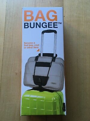 Bag Bungee Black One Size Luggage Strap Attachment Travel Carry Add Suitcase