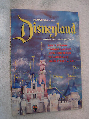 1955 Story of DISNEYLAND Inaugural Year guide book map original Disney 1950's