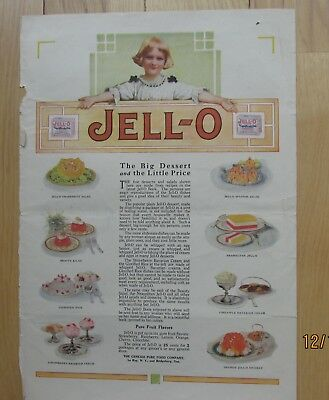 VINTAGE JELLO ADVERTISEMENT circa early 1900's