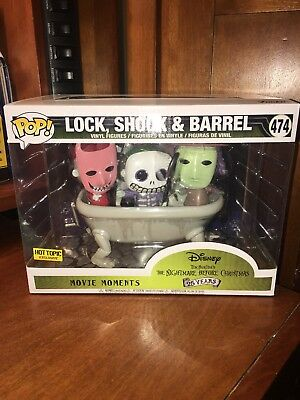 Lock, Shock & Barrell In Bathtub Funko Pop Movie Moments Hot Topic Exclusive New