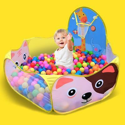 Kids Children Portable Ball Pit Pool Play Tent for Baby Indoor Basket Game Toy