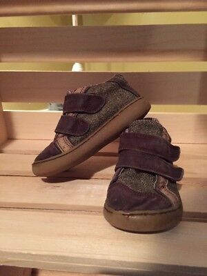 Livie And Luca Brown  Infant Canvas Shoes Size 6