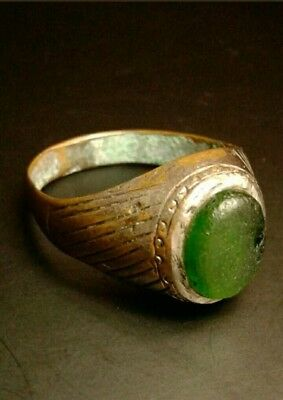 Extraordinary Antique Ancient Roman Glass Ring