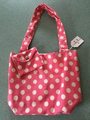 Funky Girls Tote Bag And Matching Coin Purse Hand Made