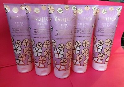 New!!!! Lot 5 Pacifica Body Butter, French Lilac Lotion! Fast Shipping!