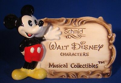 Schmid Mickey Mouse Walt Disney Characters Musical Collectibles Dealer's Sign!