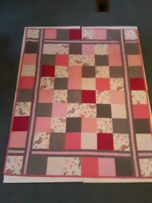 Baby Homemade Lap Size Quilt For Kids.elephants and birds design