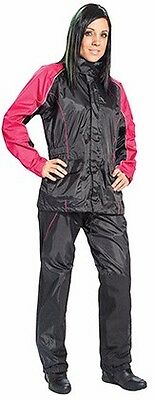 Joe Rocket Rs2 Womens Motorcycle Rain Suit X-Large   Black Pink Heat Protection