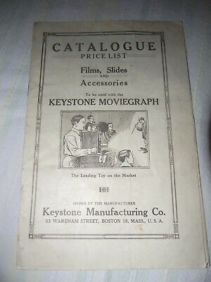 Vintage KEYSTONE Camera Toy Catalog RARE 1920s Transitional Piece Toys 2 Cameras