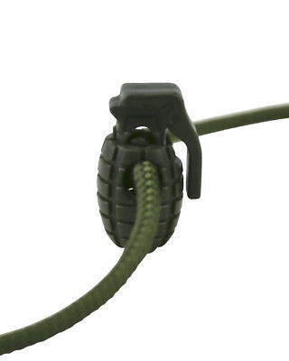 Grenade Shaped Cord Stoppers Olive green Paracord Rucksack SAS SF Army