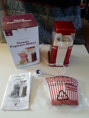 BOXED Andrew James Classic Popcorn Maker and 4 popcorn movie boxes