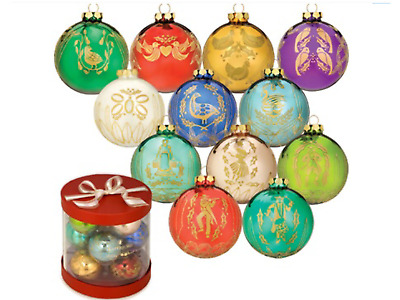 Waterford HOLIDAY HEIRLOOMS The 12 Days of Christmas BOX SET 12 Ornaments NIB