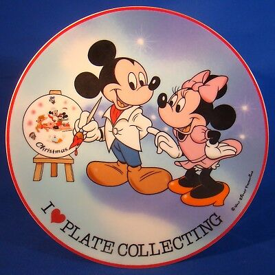 Schmid Collectors Gallery - I Love Plate Collecting - 1984 Mickey & Minnie Mouse