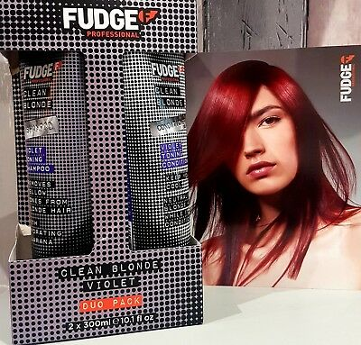 Fudge Clean Blonde Violet Shampoo and Conditioner Duo 300ml