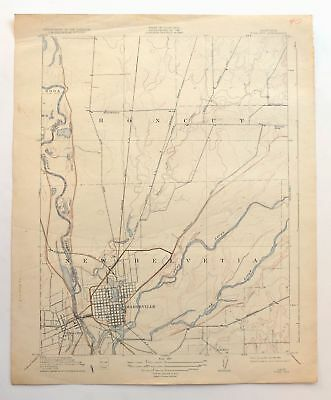 Yuba City Marysville California Vintage USGS Topo Map 1911 Linda Topographical