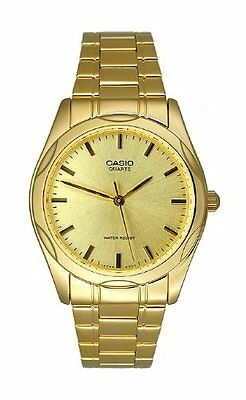 Casio MTP1275G-9A Mens Stainless Steel Analog Dress Watch Gold Tone Gold Dial