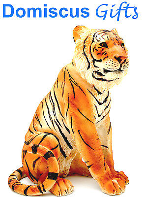 "8 1/4"" NEW! Sitting YELLOW TIGER COLLECTIBLE Figurine Animal STATUE Home Decor"