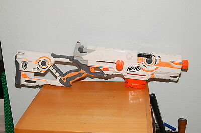 NERF LongStrike CS-6 Whiteout White Out N-Strike Rifle Gun Blaster Sniper TESTED