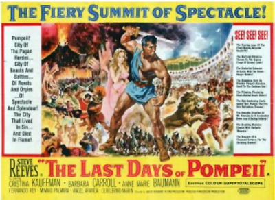 16mm Feature Film: THE LAST DAYS OF POMPEII (1959) Directed by SERGIO LEONE