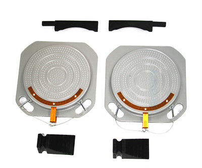 2 Wheel Alignment Turntable Turn Plates 10,000 Pounds Capacity + bridge blocks