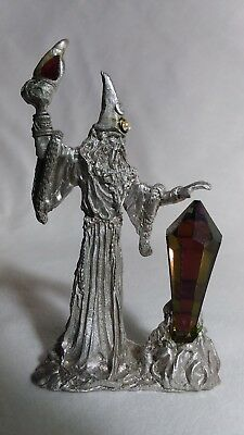 Gallo pewter wizard of the earth with large crystal