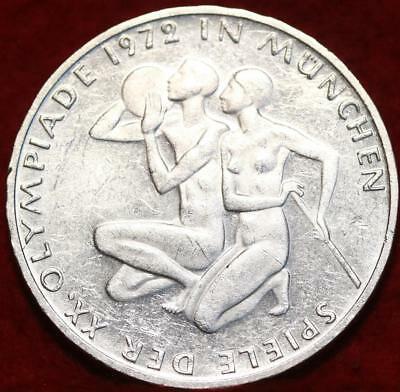 1972-F Germany 10 Mark Silver Foreign Coin