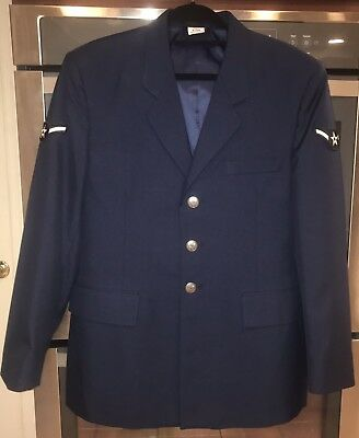 USAF US Air Force Military Service Blue Coat Jacket Nice Buttons 42R Regular