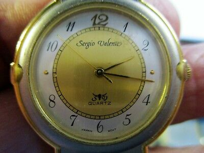 Women's SERGIO VALENTE New old stock Vintage Gold/Gray Watch w/ New Battery
