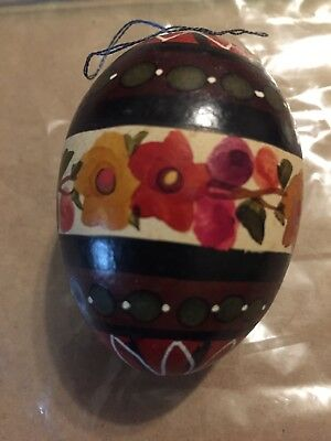 Collectible Decorative Egg.    Handmade In Poland.   Christmas Ornament