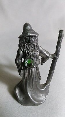 Rawcliffe pewter wizard with crystal and staff