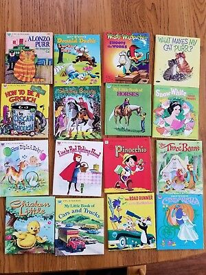 LOT of 30 Vintage Whitman Tell-A-Tale Books, Disney, Classics. *NEW*