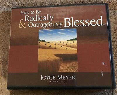 Joyce Meyer 6 Cd Set~How To Be Radically & Outrageously Blessed~Audiobook