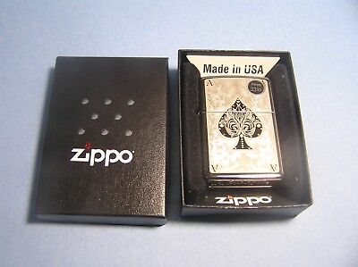 2012 Zippo Lighter Ace of Spades Filigree  #28323 - NEW SEALED !!!