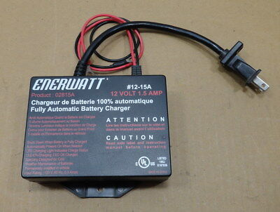 New Enerwatt Fully Automatic Battery Charger 12 Volts 1.5 Amp 02815A