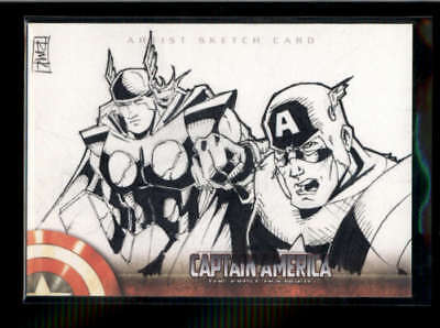 Captain America 2011 Upper Deck Marvel Sketch Card #1/1 Masterpiece K5970