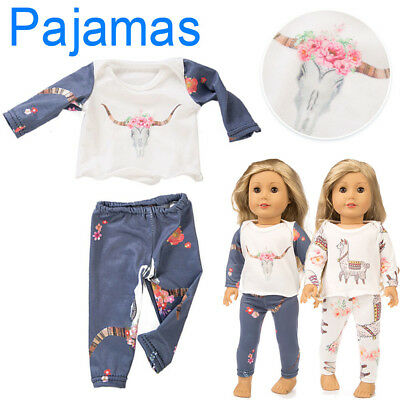 18 inch Cute Sleepwear Pajamas Nightgown Doll Sweet Toys For American Girls CO