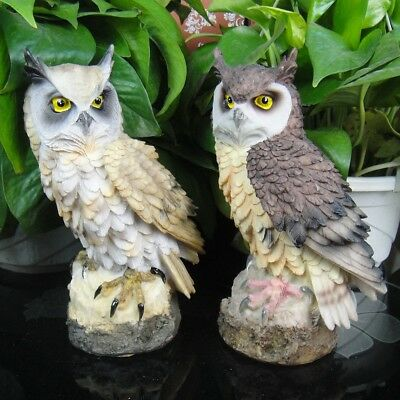 """Collectibles Statue Figures Owl Resin Patio Lawn 7.1"""" Indoor Office Decoration 1"""