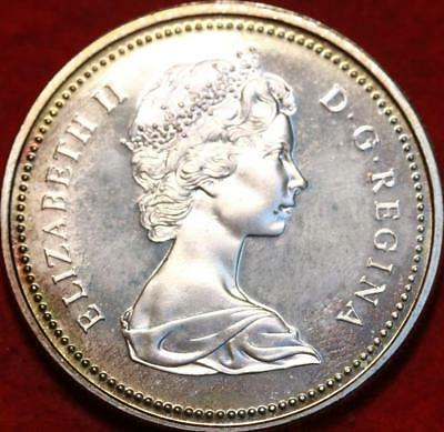 Uncirculated Toned 1973 Silver Canada $1 Foreign Coin