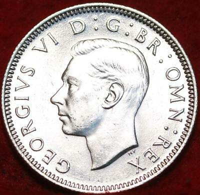 Uncirculated 1945-S Great Britain Shilling Silver Foreign Coin