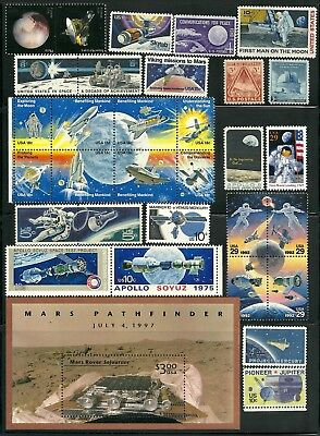 Us Attractive Collection  Space Exploration Postage Stamp Mnh And S/s