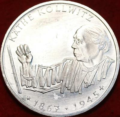Uncirculated 1992-G Germany 10 Mark Silver Foreign Coin