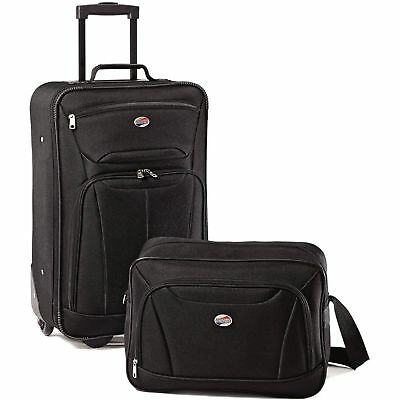 American Tourister 2-Piece Fieldbrook II Luggage Vacation Travel Bag suitcase