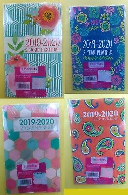 "2019 -2020 two year Monthly Planner Calendar  5"" x 8"" Choose your Color"