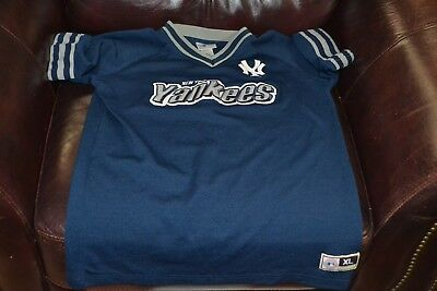 New York Yankees Kids Youth Size XL 16-18 MLB Official Official Team Shirt