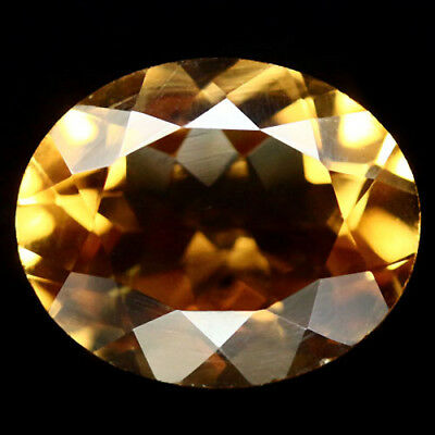 3.42 Ct Aaa! Natural! Golden Yellow Brazilian Citrine Oval