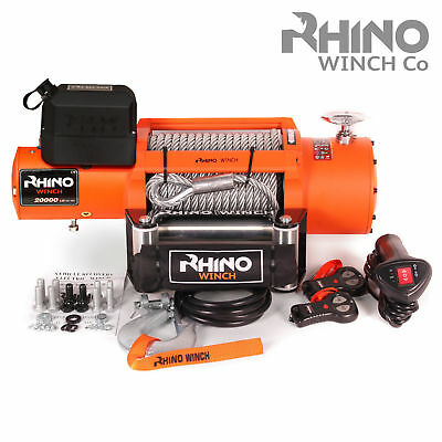 12v / 24v Electric Winch, 20000lb Steel Cable Truck Recovery ,Heavy Duty ~RHINO1