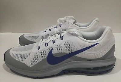 dcf9a6203d3 Nike Air Max Dynasty 2 Men s Size 11.5 Running Shoes 852430 104 White Blue  Grey