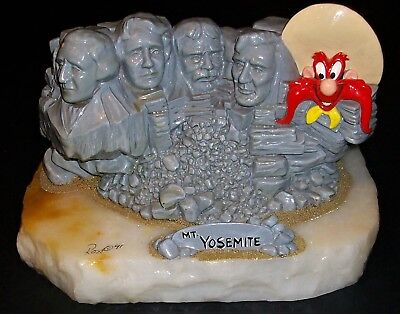 1991 Ron Lee Looney Tunes Mt Yosemite Rushmore