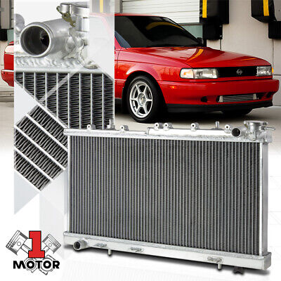 """New For 91-99 Nissan Sentra MT ONLY Dual Core Performance RADIATOR+10/"""" Fans"""