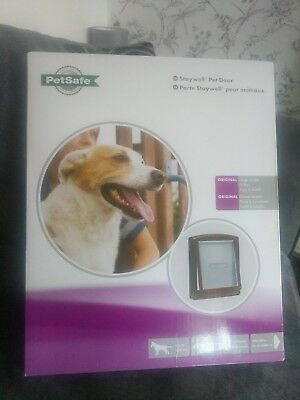 Pet Door Dog Cat 2 Way Flap Large White Entrance Safe PetSafe Staywell Original